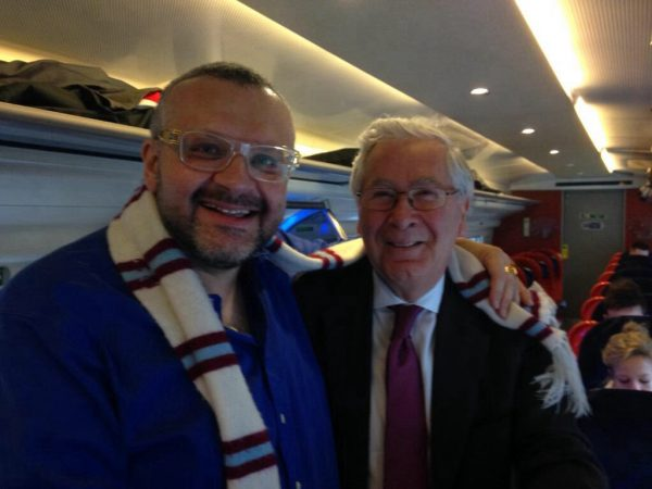 Jonny Gould with Lord King of Lothbury prior to Swansea game (22nd March 2015)