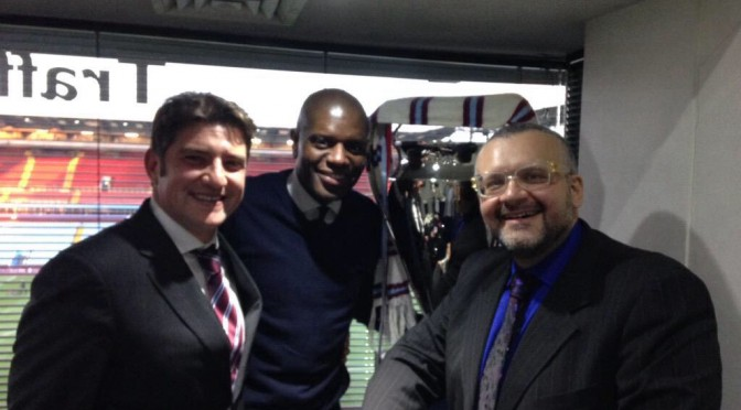 22nd March 2015 @ Swansea home game. Howard, Ian and Jonny
