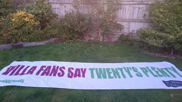 Villa fans say twentys plenty