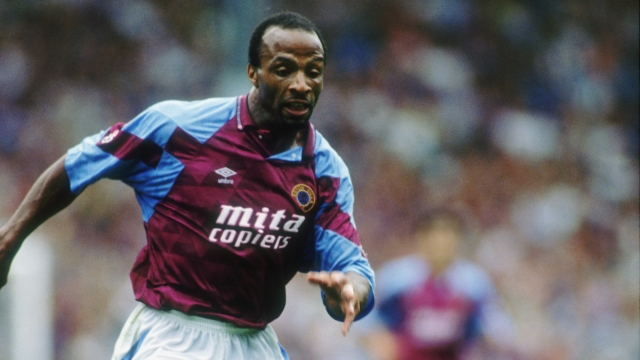 Aston Villa striker Cyrille Regis, circa 1992. (Photo by Ben Radford/Getty Images)